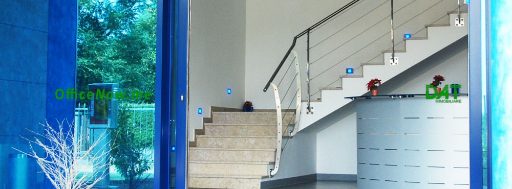 OfficeNow, serviced offices Italy, business center Italy. Access to the building is easy, via smartphone with the high-tech Control Manager home automation system.