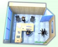 Nord Italia: ufficio arredato, ampia scrivania a L, sedie operative con schienale alto, eventuale tavolino per ospiti, sedie per ospiti, cassettiera, ben 6 comode ante a parete per archiviazione.