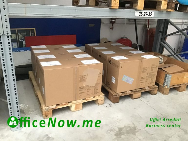 OfficeNow business center e telelavoro, servizi di logistica, movimentazione pallet, muletto, imballaggio.