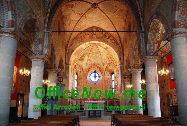 OfficeNow business center, meeting aziendale e UNESCO, chiesa S. Lorenzo e S. Stefano interno, Castiglione Olona, sala riunioni, affitto sala riunioni