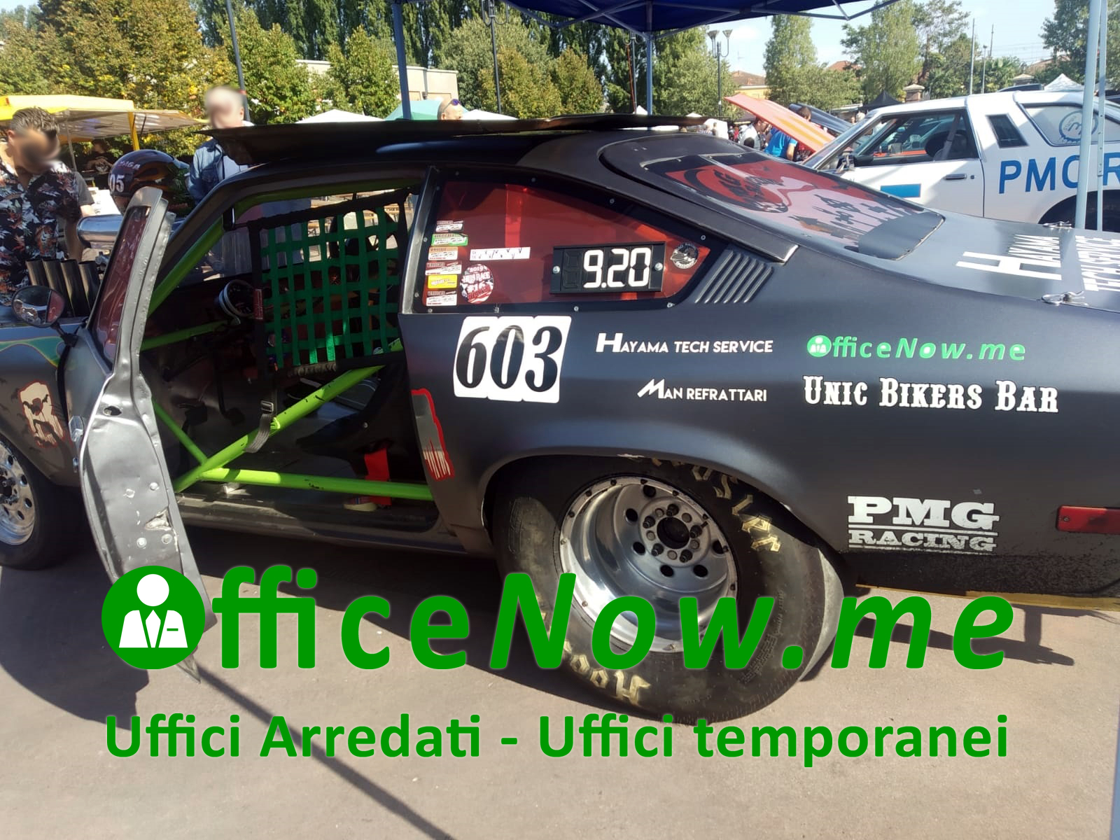 OfficeNow, business center, passioni, cairate, malpensa, uffici arredati, uffici temporanei, PMG racing, Babayaga, sponsor, interni